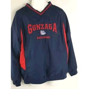 Red Oak Mens Gonzaga Pullover Light Windbreaker M